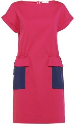 Nemozena Turn Up Sleeves Drawstring Dress Fuchsia
