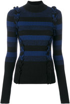 Maison Margiela striped ribbed turtleneck sweater