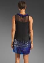 Milly Embellished Chiffon Garance Paillettes Dress