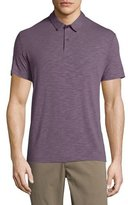 Theory Bron Short-Sleeve Jersey Polo Shirt, Grist