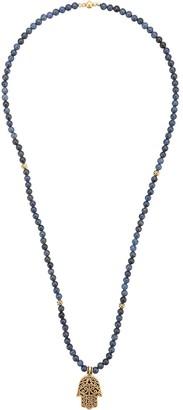 Nialaya Jewelry Hamsa pendant beaded necklace