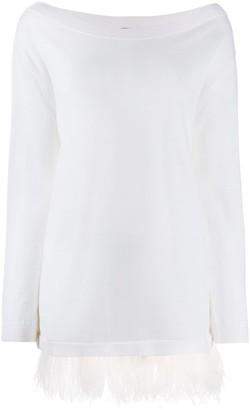 P.A.R.O.S.H. fringed long-sleeve top