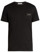 Givenchy Cuban-fit Leather-logo T-shirt