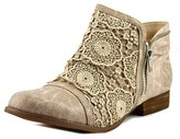 Not Rated Tomohawk Women Round Toe Canvas Tan Bootie.