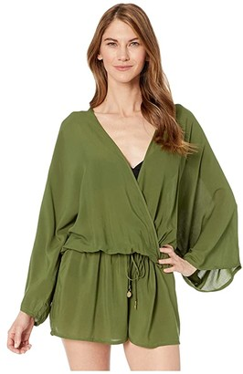 Vince Camuto Surf Shades Cover-Up Romper (Fern) Women's Swimsuits One Piece