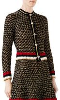 Gucci Web Lurex Blend Cardigan