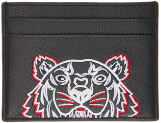 Kenzo Black Tiger Card Holder
