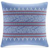 "Echo Woodstock Embroidered 18"" Square Decorative Pillow"