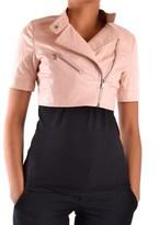 Liu Jo Women's Pink Leather Outerwear Jacket.