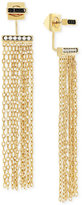 Vince Camuto Gold-Tone Front and Back Fringe Earrings