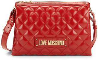 Love Moschino Quilted Double-Pouch Crossbody Bag