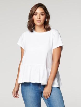 Forever New Chantelle Curve Smock T-Shirt - Porcelain - 16