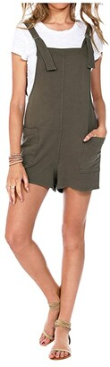 bobi Los Angeles Vacay Terry Overall Romper (Brigade) Women's Jumpsuit & Rompers One Piece