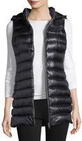 Herno Long Zip-Front Quilted Puffer Vest w/ Removable Hood