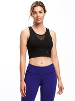 Old Navy Go-Dry Long-Line Light Support Sports Bra for Women