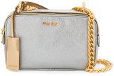 Miu Miu metallic crossbody bag - women - Calf Leather - One Size