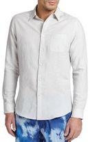 Onia Linen & Cotton Button-Down Shirt