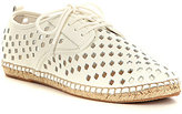 Gianni Bini Laser Cutout Leather Lace-Up Espadrilles