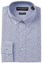 Nick Graham Long Sleeve Modern Fit Small Paisley Dress Shirt