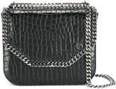 Stella McCartney crocodile-effect Falabella Box shoulder bag - women - Polyamide/Polyester/Polyurethane - One Size