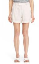 Vince Roll Cuff Linen Shorts