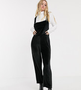 Reclaimed Vintage inspired dungaree in velvet