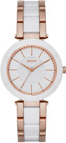 DKNY Women's Stanhope Two-Tone Stainless Steel and Ceramic Bracelet Watch 36mm NY2500