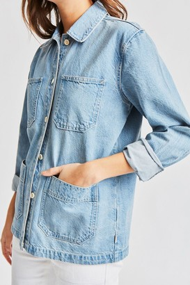 Brixton Karen Chore Coat - Faded Indigo - Small.