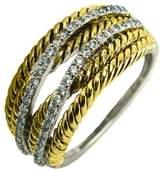 Embellish Twist Cz Ring