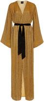retrofete Janet Belted Sequined Chiffon Maxi Dress