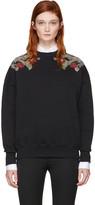 Alexander McQueen Black Embroidered Sweatshirt