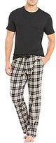 UGG Grant Solid Tee and Plaid Pants Pajama Set