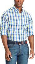 Chaps Men's Classic-Fit Plaid Stretch Poplin Button-Down Shirt