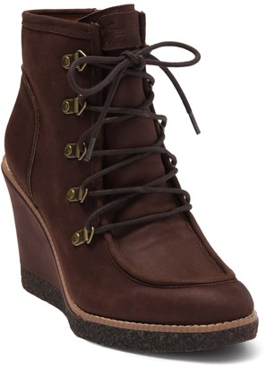 Zodiac Indy Lace-Up Wedge Boot