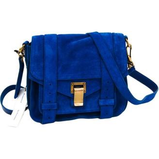 Proenza Schouler PS1 Touch Blue Suede Handbags