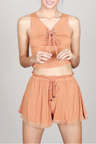 POL Lace Up Crop