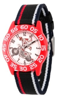 EWatchFactory Boy's Disney Toy Story 4 Duke Caboom Black Plastic Time Teacher Strap Watch 32mm