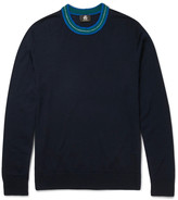 Ps By Paul Smith - Contrast-trimmed Merino Wool-blend Sweater