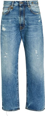 R 13 Boyfriend Distressed Jeans