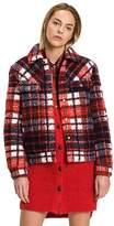 Tommy Hilfiger Tartan Shearling Jacket