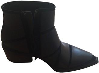 Vic Matié Black Leather Ankle boots