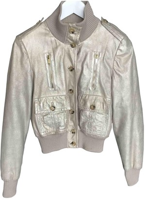 Gucci Gold Leather Jackets