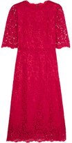 Dolce & Gabbana Guipure Lace Dress - Red