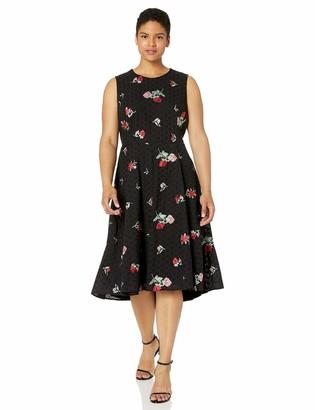 Calvin Klein Women's Size Sleeveless A-Line Dress with High Low Hem