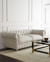 "Horchow Warner Linen Collection 77"" Sofa"