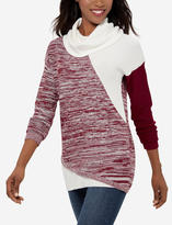 The Limited Color Blocked Cowl Neck Tunic