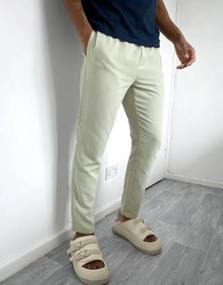 ASOS DESIGN slim trousers in textured fabric