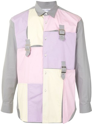 Comme des Garçons Shirt Patchwork Panelled Cotton Shirt