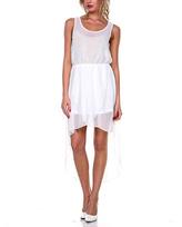 Stanzino Ivory Sheer Hi-Low Dress