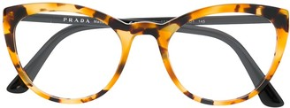 Prada Square-Frame Logo Glasses